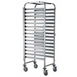 Chariot inox mobile 15 niveaux GN 1/1
