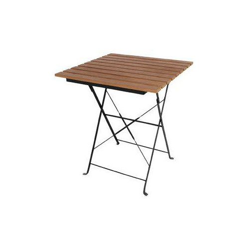 Table terrasse pliante imitation bois 595 x 595 mm for Table de terrasse pliante