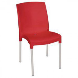 Chaises bistro rouges BOLERO - Lot de 4