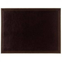 Set de table en simili cuir marron - 300 x 200 mm