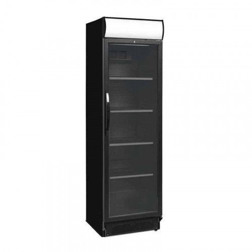 armoire boisson r frig r e noire vitr e lumineuse 390 l. Black Bedroom Furniture Sets. Home Design Ideas