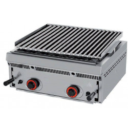Barbecue charcoal professionnel pierre de lave à gaz 15,16Kw MAINHO