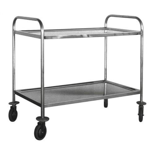 Chariot en inox 2 plateaux 1000 x 600 mm finarome for Chariot inox professionnel