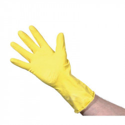 Gant multi usage en latex jaune professionnel - Taille L