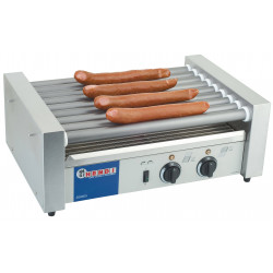 Roller hot dog professionnel HENDI - 9 rouleaux