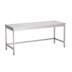 Table de travail centrale en inox 700 x 2000 mm