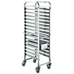 Chariot inox mobile 10 niveaux GN 1/1