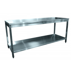 Table inox centrale