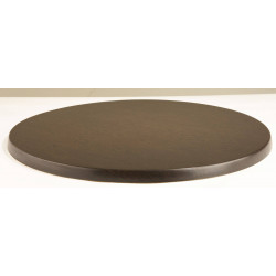 Plateau de table ronde wengé WERZALIT PLUS - 600 mm de diamètre