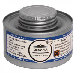 Combustible liquide OLYMPIA pour chafing dish 4h - Lot de 12