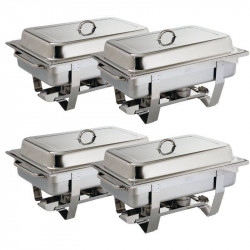Chafing dish Milan GN 1/1 en inox professionnel OLYMPIA - Lot de 4