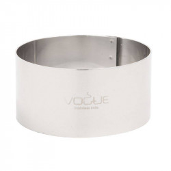 Cercle à mousse en inox professionnel VOGUE - 70 x 35 mm