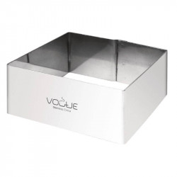 Cercle à mousse carré en inox professionnel VOGUE - 80 x 80 x 35 mm