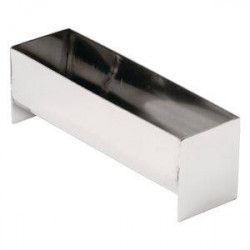 Moule à terrine en U en inox professionnel VOGUE - 135 x 35 x 45 mm