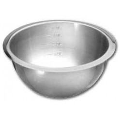 Bassine graduée en inox professionnelle VOGUE - 215 mm de diamètre