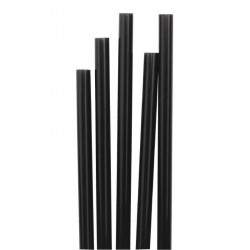 Pailles noires fines Memphi 140 mm - Lot de 1000
