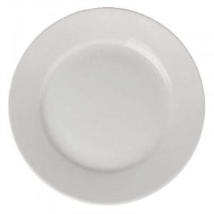 Assiettes à large bord en porcelaine ATHENA Ø 228 mm - Lot de 12