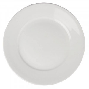 Assiettes à large bord en porcelaine ATHENA Ø 280 mm - Lot de 6
