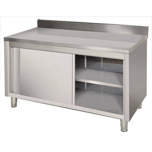 Placard inox mural portes coulissantes 600 x 1400 mm