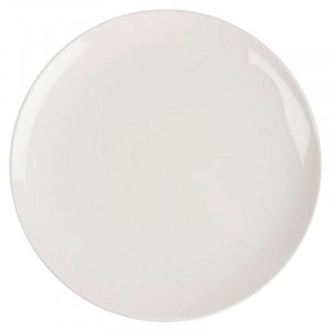 Assiettes coupes rondes en porcelaine blanches LUMINA Ø 305 mm - Lot de 2