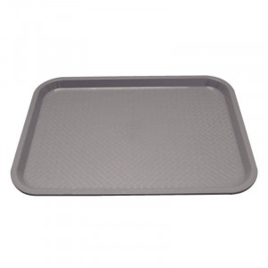 Plateau self service anti-dérapant gris KRISTALLON 415 x 305 mm Plateau self service anti-dérapant gris KRISTALLON 415 x 305 mm