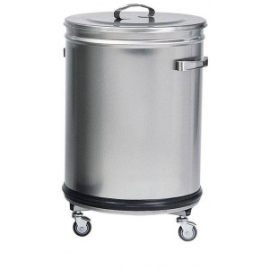 Poubelle cylindrique inox Poubelle cylindrique inox