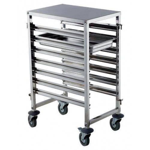 Chariot inox mobile 7 niveaux GN1/1 HENDI Chariot inox mobile 7 niveaux GN1/1 HENDI