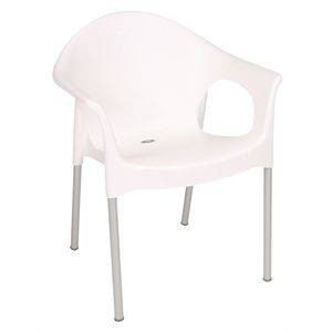 Fauteuils bistro blancs BOLERO - Lot de 4