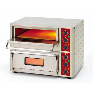 Four à pizza et bruschetta professionnel ROLLER GRILL - 2x 430 x 430 mm