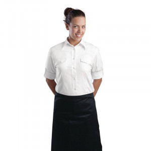 Tablier bistro long noir professionnel UNIFORM WORKS
