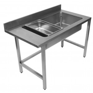 Table de déboitage professionnelle en inox 700 x 1300 mm