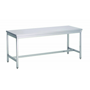 Table de travail centrale en inox 800 x 1200 mm