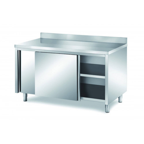 Grand Placard Inox Mural Avec Portes Coulissantes 800 X 1500 Mm