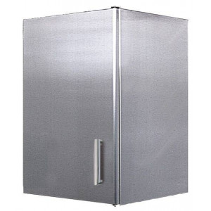 Meuble mural en inox 1 porte battante 450 x 450 mm