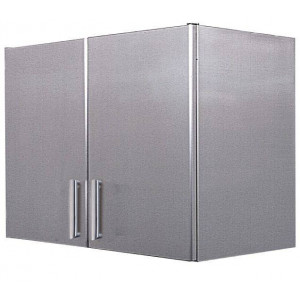 Meuble mural en inox 2 portes battantes 450 x 900 mm Meuble mural en inox 2 portes battantes 450 x 900 mm