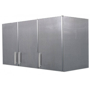 Meuble mural en inox 3 portes battantes 450 x 1350 mm