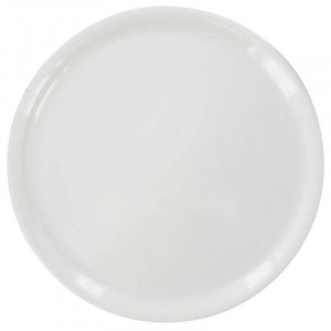 Assiettes à pizza en porcelaine blanche Napoli SATURNIA Ø 280 mm - Lot de 6