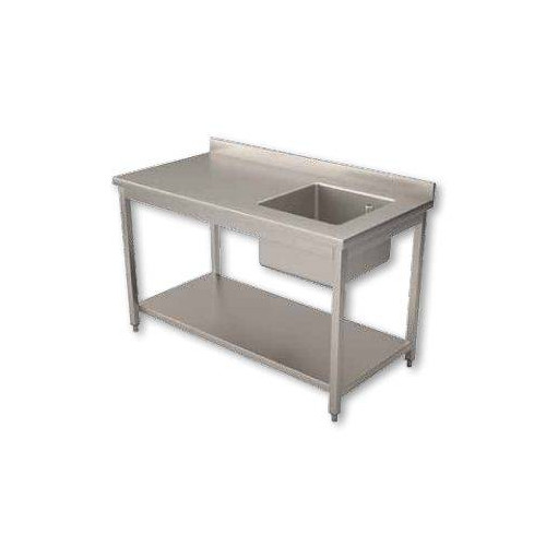 Table du chef inox 1 bac a droite 700 x 1600 mm Table du chef inox 1 bac a droite 700 x 1600 mm