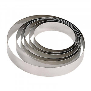 Cercle à mousse en inox professionnel DE BUYER - 240 mm de diamètre