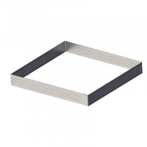 Cercle à tarte perforé carré en inox DE BUYER 80 x 80 mm