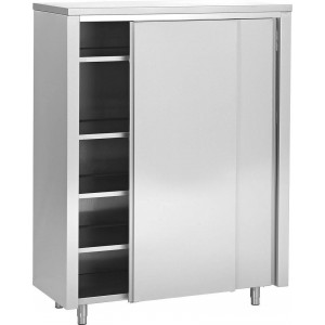 Armoire inox 2 portes coulissantes 1400 x 600 mm Armoire inox neutre 2 portes coulissantes 1800 x 600 mm