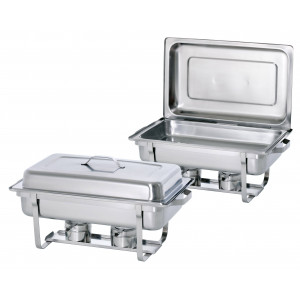 Lot de 2 chafing dishes GN 1/1 inox professionnels BARTSCHER Chafing dish GN 1/1 inox professionnel BARTSCHER