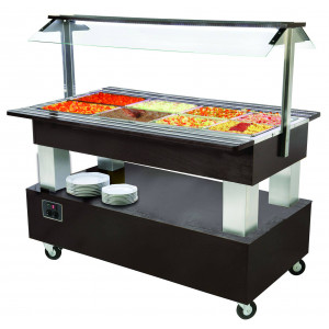 Buffet self service professionnel chauffant 4 bacs GN 1/1 Buffet self service professionnel chauffant ROLLER GRILL 4 bacs GN 1/1