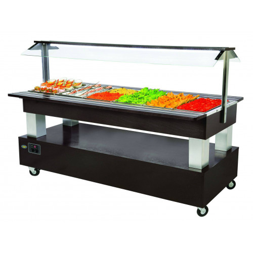 Buffet self service professionnel chauffant 6 bacs GN 1/1 Buffet self service professionnel chauffant ROLLER GRILL 6 bacs GN 1/1