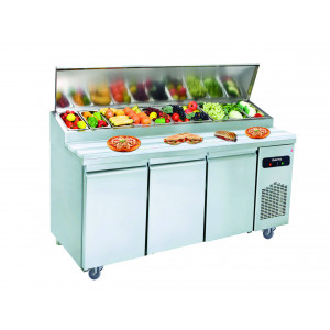 Table pizza salad'bar réfrigérée 3 portes 600 x 400 IBERNA Table pizza salad'bar réfrigérée 2 portes 600 x 400 IBERNA