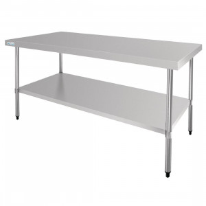 Table de travail centrale en inox 700 x 1800 mm