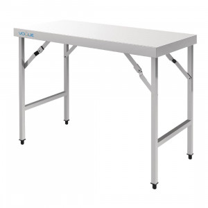 Table de travail centrale en inox 900 x 1800 mm