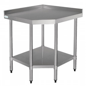 Table d'angle en inox 700 mm Table d'angle en inox 600 mm