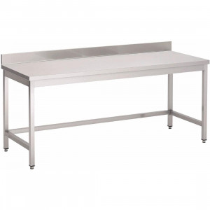 Table de travail centrale en inox 700 x 700 mm