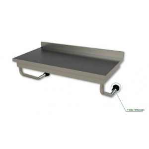 STOCK EPUISE ! Table suspendue en inox professionnelle 600 x 1600 mm Table suspendue en inox professionnelle 600 x 1000 mm